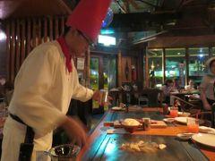 2016春、沖縄旅行(2):3月17日(2):那覇空港到着、夕食は調理パフォーマンスのステーキとワイン