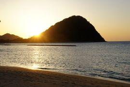 20160321 萩 ちとお疲れで、昼間はお休み。菊ヶ浜の夕日だけ見に行こうかな