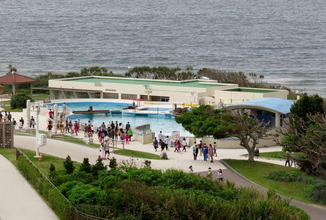 海洋博公園内にある、沖縄美ら海(ちゅらうみ)水族館の紹介です。総展示槽数は77槽、飼育数は約740種2万1千点とされます。アメリカのジョージア水族館が開館された平成17年(2005年)までは、世界最大の水族館でした。