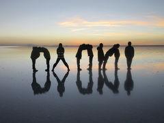 ウユニ塩湖、天空の鏡