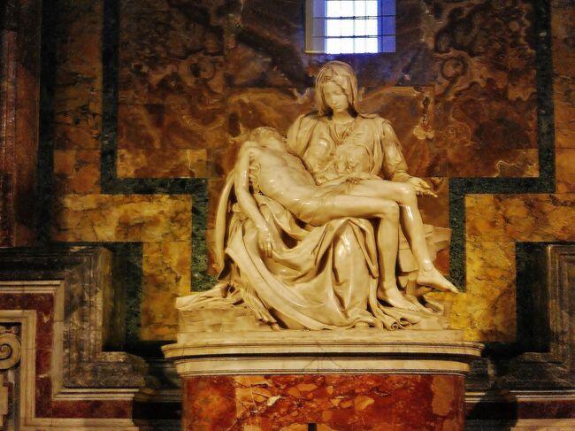 定年の記念として、妻とともにイタリア(ローマ、フィレンツェ、ミラノ)を旅行しました。<br />初めてのイタリアで、不安でしたが、旅行を満喫して無事に帰ってくることが出来ました。<br /><br />■■2日目(2016年3月18日 金曜日)■■■■<br />今日は、終日、ローマ市内観光です。<br /><br />午前中は、HISのオプションツアーを利用し、ローマ市内を観光します。<br />午後は、自力でヴァチカンを観光するよう予定しています。<br /><br />実は、午前はローマ市内、午後はヴァチカン美術館を観光するHISの終日ツアーを予約していたのですが、10日程前に、18日(金曜日)のヴァチカン美術館の前売り券の販売がなくなったため、午後のツアーはなくなったとの連絡(メール)があり、そこで、午前のローマ市内観光のみお願いし、午後は、自力で、ヴァチカン市国に行ってみることにしました。<br /><br />--------------------------------------------------------------------<br /><br />【今回のスケジュール】<br />・1日目(3月17日(木曜日))<br /> 羽田空港→ミュンヘン空港 移動(ANA217 )<br /> ミュンヘン空港→フィウミチーノ空港 移動(ANA NH6095)<br /> フィウミチーノ空港→ローマ・テルミニ駅 移動(レオナルド・エックスプレス)<br /> ≪ローマ泊≫<br />http://4travel.jp/travelogue/11105898<br /><br />・2日目(3月18日(金曜日))<br /> ローマ市内観光<br /> ≪ローマ泊≫<br />http://4travel.jp/travelogue/11114846<br /><br />・3日目(3月19日(土曜日))<br /> ローマ・テルミニ駅 → フィレンツェ中央駅 移動(電車 Frecciarossa9414)<br /> フィレンツェ市内観光<br /> ≪フィレンツェ泊≫<br />http://4travel.jp/travelogue/11114979<br /><br />・4日目(3月20日(日曜日))<br /> フィレンツェ市内観光<br /> ≪フィレンツェ泊≫<br />http://4travel.jp/travelogue/11115017<br /><br />・5日目(3月21日(月曜日))<br /> フィレンツェ市内観光<br /> フィレンツェ中央駅 → ミラノ中央駅 移動(電車 Frecciarossa9540)<br /> ≪ミラノ泊≫<br />http://4travel.jp/travelogue/11115888<br />http://4travel.jp/travelogue/11115023<br /><br />・6日目(3月22日(火曜日))<br /> ミラノ市内観光<br /> ミラノ空港 → ミュンヘン空港 移動(ANA NH6054)<br /> ミュンヘン空港 → 羽田空港 移動(ANA NH218)<br />http://4travel.jp/travelogue/11115025