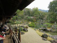 2016春、京都の桜巡り(3/13):3月30日(3):醍醐寺(3):表書院、三宝院庭園、亀島、鶴島、藤戸石、三段の滝