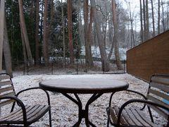 春の優雅な伊豆と河口湖 愛犬一緒の旅♪ Vol14(第3日目午後) ☆河口湖:「レジーナリゾート富士」 晴れのち雪!まったりとくつろぎながら春の雪を眺めて♪