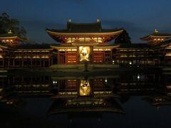 2016春、京都の桜巡り(12/13):3月30日(12):宇治平等院(1):円山公園から、宇治平等院へ、ライトアップされた鳳凰堂