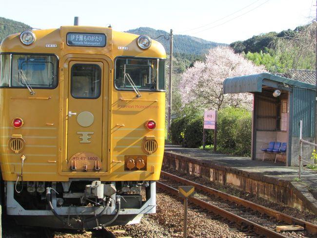 道後温泉の温泉を楽しんだ後、「伊予灘ものがたり」号に乗りました。松山から西へ2時間ほどの八幡浜へ。瀬戸内海をのんびり眺めながら、お食事を楽しむ。乗って楽しい列車の旅です。