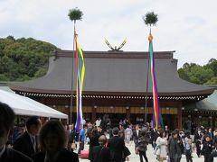 2016春、奈良の桜巡り(2/13):4月3日(2):橿原神宮(2):橿原神宮、2600年大祭、神楽殿、外拝殿、内拝殿