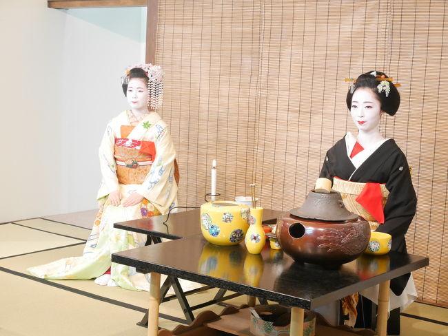 京都に春の訪れを告げる、祇園甲部歌舞練場の都をどり。<br />今回、初めて見に行くことができました♪<br /><br />インターネットで申し込み。<br />せっかくなので、お抹茶券付きの特等観覧席(指定席)、4,800円にしました!<br />カード決済できます。便利!<br /><br />美しい芸妓さん、舞妓さんの素晴らしい踊りと舞台が次々に変わるので、夢のような1時間でした!<br />ほんとうにあっという間。<br />また来年も見たい!!と思わせる、素晴らしい舞台でした。