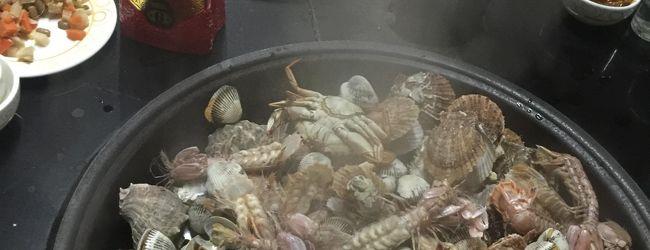 青島で面白い鍋料理をいただく