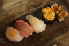20160506 大阪 中央市場のゑんどう寿司さん、今日は四枚 → 野田の名所、10円自販機
