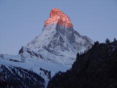 最高のお天気に恵まれた、母娘のスイス旅行 Vol.7-早起きした甲斐があった!! マッターホルンの朝焼けに感動☆
