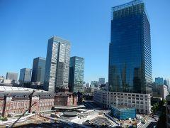 新丸の内ビルからみられる東京駅丸の内付近の風景