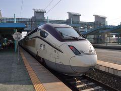 2016年5月韓国鉄道旅行4(新型山川KTX車輌で木浦駅へ)