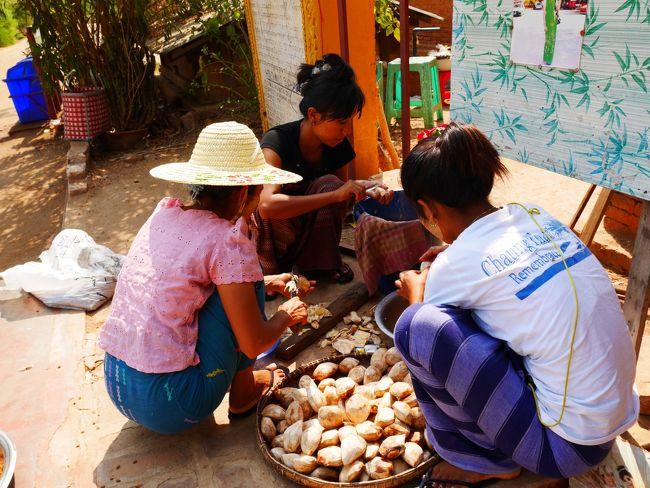ヤンゴン1泊→バガン3泊→ヤンゴン1泊 <br /><br />女ひとり旅 (*^^)<br /><br />バガン遺跡に魅かれ ドキドキのミャンマーひとり旅<br />現地の人々の温かさや笑顔に出会い 各国の旅人との交流あり 笑みが絶えない<br />そんな旅になりました<br /><br />4日目 Bagan ◆e-bikeでのんびりドライブ