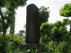 2016春、守山崩れの地、守山城址(2):5月24日(2):白山神社、守山城址の石碑、堀址