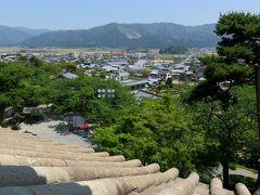 2016春、福井県のお城巡り(3/15):5月18日(3):丸岡城(3):現存の天守閣、二階と三階の室内光景、二階と三階からの眺め