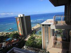 ワイキキ・ヒルトンホテル43階からの眺め