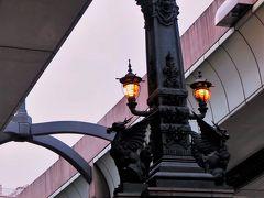 遊覧船5/5 小名木川~日本橋川 日本橋脇で下船 ☆高速道路を見上げて