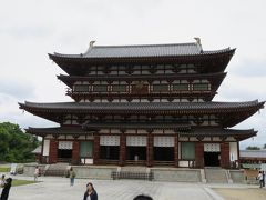 2016梅雨、奈良の世界遺産巡り(1/9):6月5日(1):薬師寺(1):名古屋から近鉄電車で西ノ京へ、薬師寺、西塔、修理中の東塔、金堂、玄奘堂