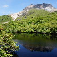 恐ろしい程の強風で、登山は諦めて那須岳周辺を歩く♪①
