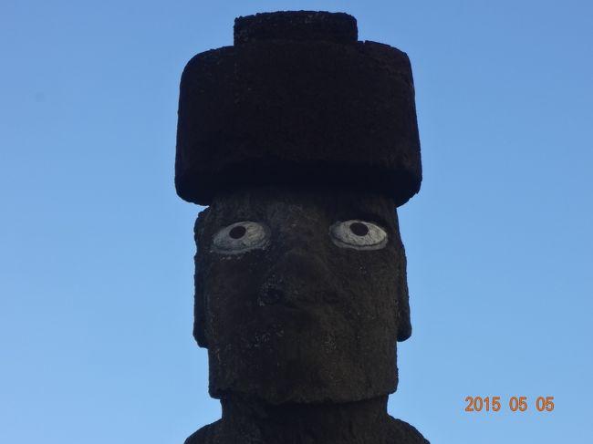 イースター島♪<br /><br />やっぱり見ておかないとね^^<br /><br />タハイ儀式村にある<br />プカオ(ラパヌイ語で髭・髪飾り)を載せたアフ コテリク<br />現存するモアイ像の中で<br />唯一目が入っているモアイ像だそうです<br />アフは 石の祭壇 の意味<br /><br />