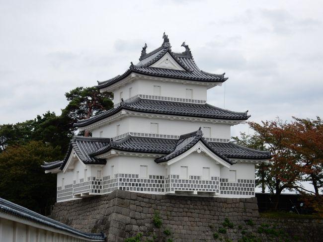 千葉県から、常磐道、外環道、関越道、日本海東北自動車道と、ひたすら走り続け新発田城へ! 約5時間で到着・・・疲れた。<br />こじんまりとした城を鑑賞後、隣の自衛隊駐屯地を見学し、昼食はご当地のB級グルメ、シンガポール食堂の「オッチャホイ」をいただいた。その後、美人の湯月岡温泉「泉慶」に宿泊した。<br /> 翌日は、渋滞を避けるため朝からさっそく帰路につき、磐越道安田ICから入り、会津若松、郡山、いわきを経由し常磐道に入り、渋滞の情報を得て、千代田石岡ICで下り、つくばの洒落たイタリアンレストランで昼食を摂り千葉県の自宅に帰り着いた。