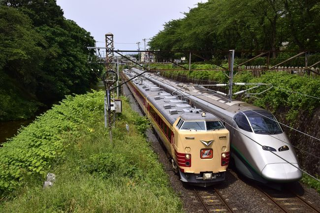国鉄時代のオリジナルの姿を残す国内唯一の国鉄型特急車両「485系」が引退を迎えるにあたって、2016年6月19日に団体臨時列車「特急つばさ」(福島駅〜山形駅〜仙台駅間)が運転されました。<br />これでラストランとなる485系「特急つばさ」を追いかけて、山形に訪れてみました。
