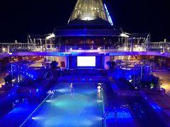オーシャニア・リビエラ地中海クルーズvol 10 美食の船のレストランめぐり☆美味しいデイナーと綺麗な夕日!そして碧の幻想。。。