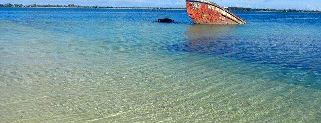 トンガ王国で見た神秘的なグラデーションの海