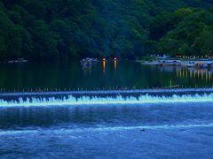 嵐山 静かな夏の夕景
