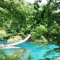 <旅鉄子☆大井川鐡道の旅.5>揺れる~!憧れの「夢の吊橋」 足元の水はどこまでも青かった・・・