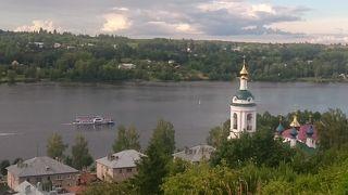 夢のように美しいヴォルガ河畔の町プリョスから、スマフォの写真で現地アップ