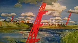 風景画家が愛したヴォルガ河畔の町プリョス2日目、スマフォの写真で現地アップ