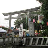 雨の例大祭・白旗まつり 源義経ゆかりの白旗神社