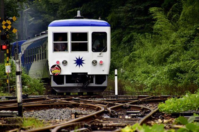 JR木次線のトロッコ列車「奥出雲おろち号」に乗車して、奥出雲に広がる夏の深緑風景を満喫してきました。