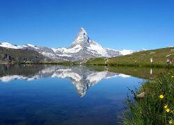 団塊夫婦の2016年絶景アルプストレッキング-(6)ツェルマットその2:はじめてのエーデルワイスと二度目の逆さマッターホルン
