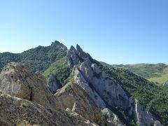 夏の優雅な南イタリア周遊旅行♪ Vol177(第10日) ☆Castelmezzano:美しき村「カステルメッツァーノ」 岩山から隣町のピエトラペルトーザを眺めて♪そしてさようなら♪