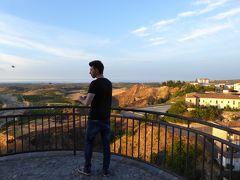 夏の優雅な南イタリア周遊旅行♪ Vol187(第10日) ☆Corigliano Calabro:ホテル「Relais Hotel Palazzo Castriota」から夕暮れの風景を眺めて♪