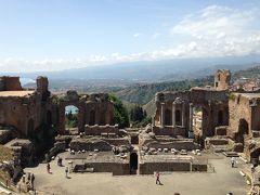 オーシャニア・リビエラ地中海クルーズ  vol.25 タオルミーナの散策とギリシャ劇場の壮大な眺めに感動!!