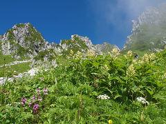 木曽駒ヶ岳登山03 青と緑の千畳敷カール