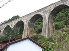 北海道旅行記2016年夏(9)亀田半島バス乗車と戸井線廃線跡巡り・アーチ橋編