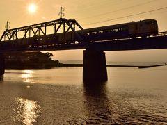 上総湊港からの東京湾の夕焼けと湊川灯籠流しを見に訪れてみた