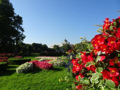 中欧4カ国9日間 Vol.6<ウイーン (花の美しいフォルクスガーデン・世界一美しい図書館「プルンクザール」→ヴラチスラバ(スロヴァキア)>