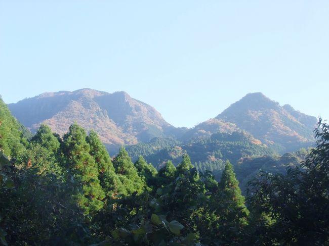 「やほうがだけ」と読むこの山は、熊本県にある小さな死火山の山で、浸食が進み、谷が発達しており、中腹にはカニのハサミ岩などというひときわ目立つ奇岩を持ち、天狗が住んでいたなどという伝説もある人気の山で、九州の100名山に選ばれています。<br /> 私たちは毎年6月と11月には九州に行き、九州の100名山を中心に山登りと観光を楽しんでいますが、この年の山旅で選んだのが八方ヶ岳1052mでした。<br /> 小さなピークが続く稜線上の道を幾つものピークを巻いたり登り越し、ロープの下がった急な岩尾根を行くコースは、私達にはかつて歩いた北アルプスの山々を思い出させ、しんどいけれど楽しくもありました。<br />