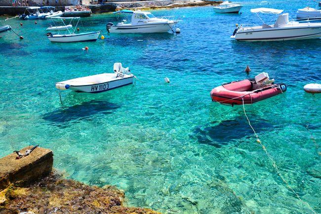 フヴァール二日目、この日は夕方の船でドブロブニクへ行く予定<br /><br />小さな島を散策。イタリア・ランペトゥーザ島のような景色に出会えました。<br />(行ったことないですが・・・)<br /><br />城塞に上って、ビーチ方面へ歩きました。<br /><br />○8月19日関空→イスタンブール<br />○8月20日イスタンブール→スプリット<br />○8月21日スプリット・トロギール→フヴァール<br />●8月22日フヴァール→ドブロブニク<br />○8月23日~25日ドブロブニク<br />○8月26日ドブロブニク→ザグレブ→イスタンブール<br />○8月27日イスタンブール→関空