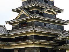 国宝 松本城1/2(外観) 平城・複合連結式天守 ☆武将と姫君が登場