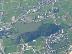 【国内231】京都とんぼがえり-行きの飛行機からの風景,ホテルグランヴィア京都