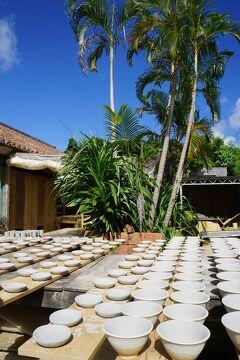 台風16号と17号の狭間を旅した沖縄4日間(4)万座毛の広大な景色を楽しみ「琉球村」でお昼を食べて「やちむんの里」と「座喜味城跡」を巡る。
