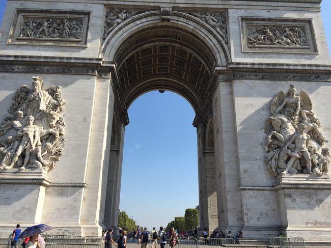 パリ旅行記 その3 凱旋門の屋上に登る
