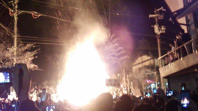 2016年京都時代祭・鞍馬の火祭り&竹田城跡見物の旅(パート2 鞍馬の火祭り見物編)