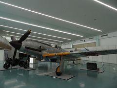 神戸ポートターミナルホールで旧陸軍戦闘機'飛燕'が